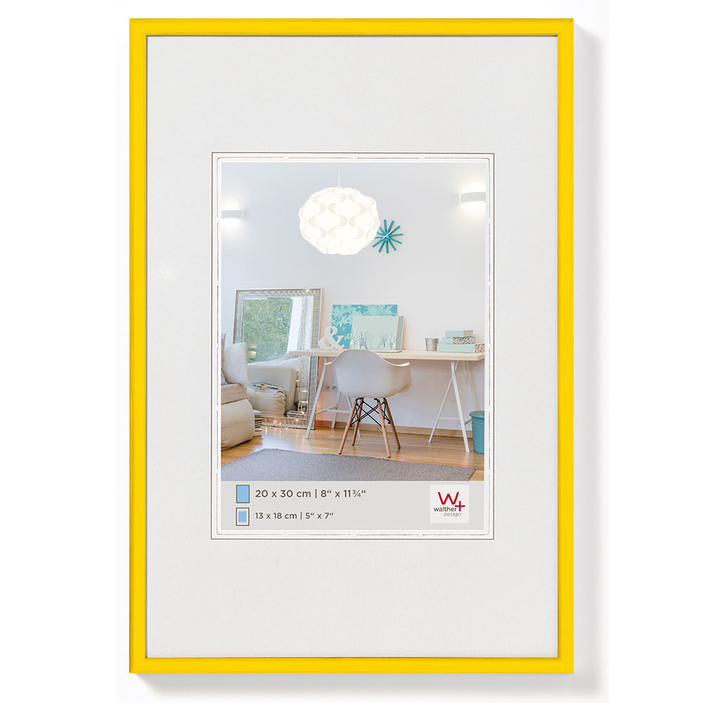 New Lifestyle Kunststoffrahmen 18x24 cm | Gelb | Normalglas