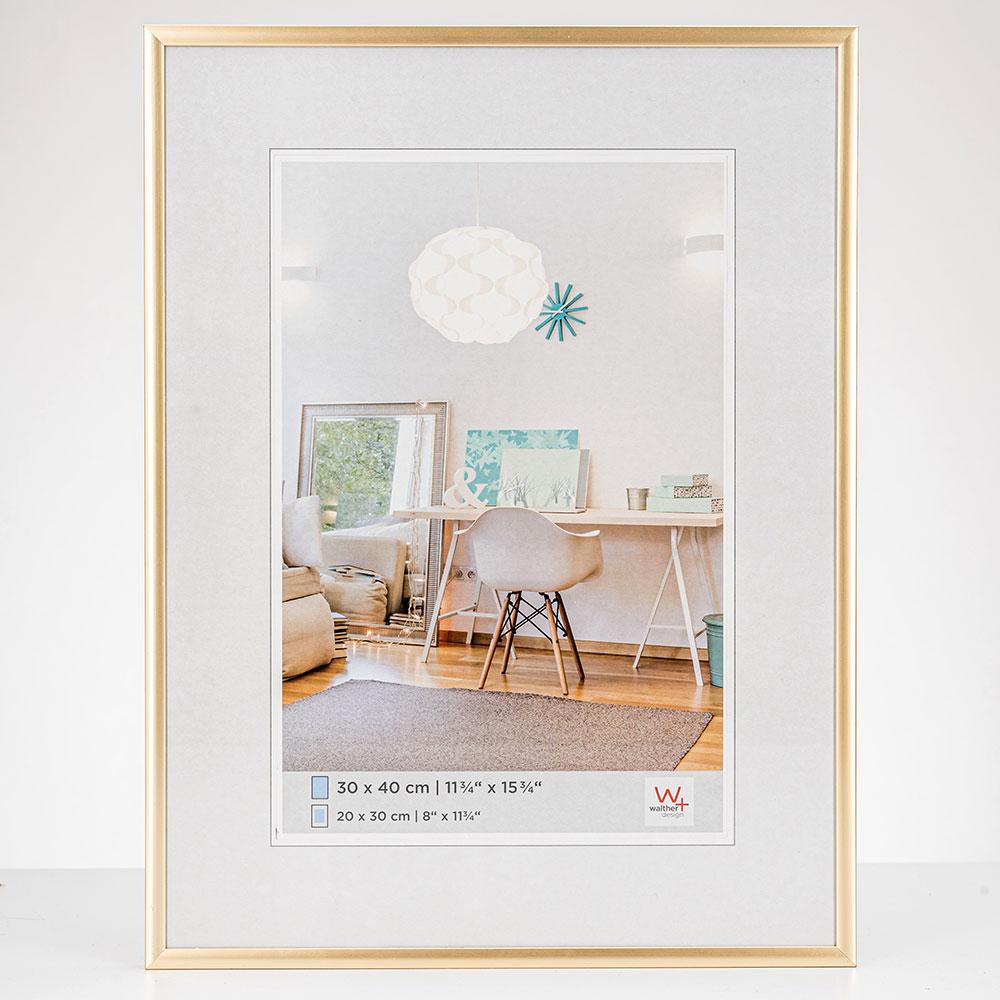 New Lifestyle Kunststoff Bilderrahmen 30x40 cm | Gold | Normalglas
