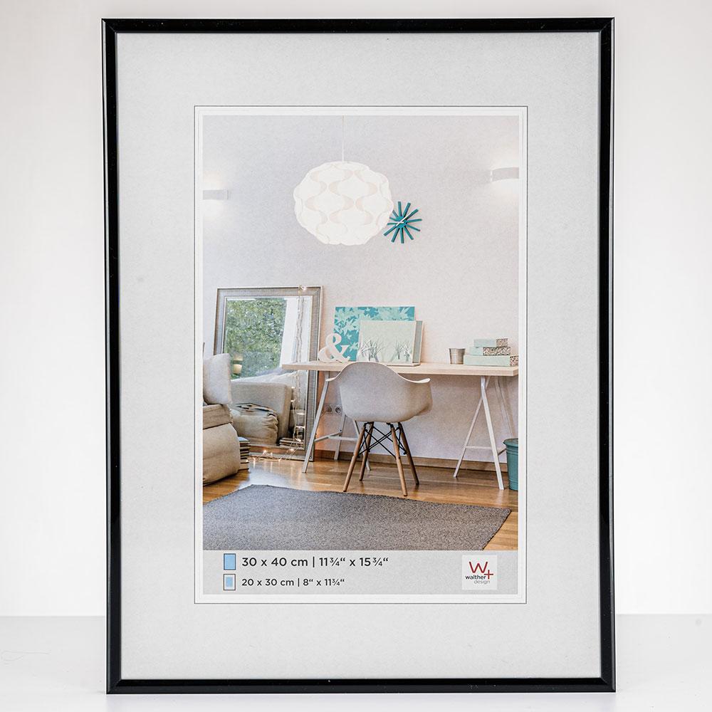 New Lifestyle Kunststoffrahmen 10x15 cm | Schwarz | Normalglas