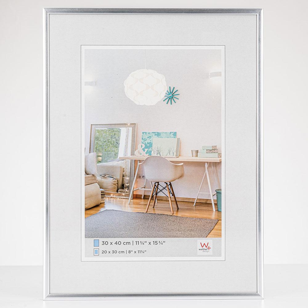 New Lifestyle Kunststoffrahmen 20x30 cm | Silber | Normalglas