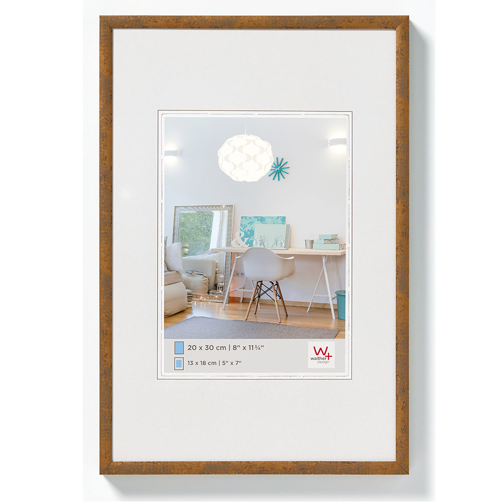 New Lifestyle Kunststoffrahmen 18x24 cm | Taupe | Normalglas