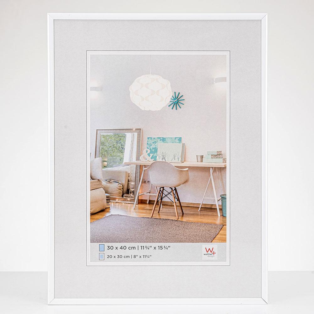 New Lifestyle Kunststoffrahmen 20x30 cm | Weiß | Normalglas