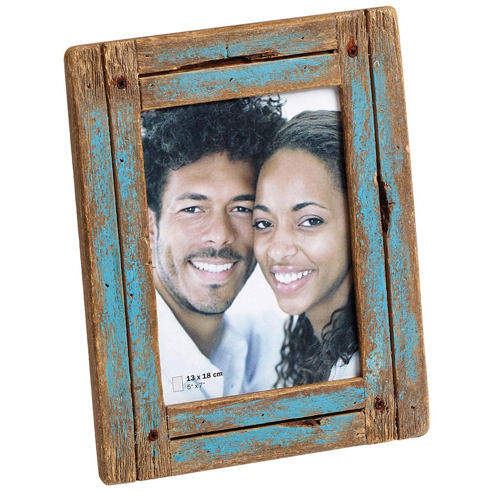 Portraitrahmen Dupla 15x20 cm | blau-natur